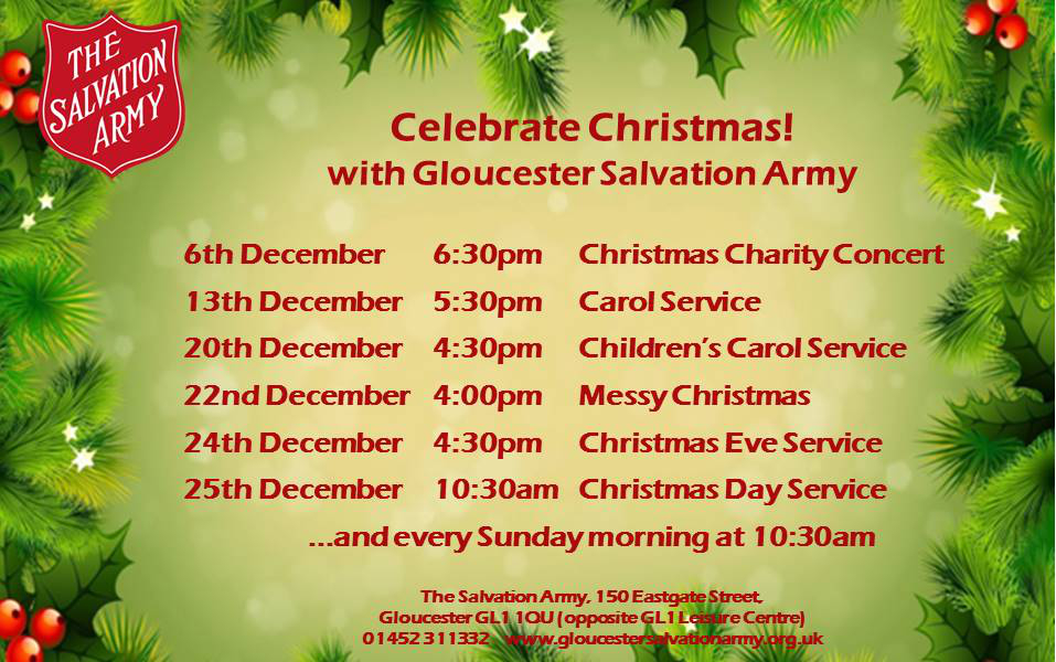 Celebrate Christmas! with Gloucester Salvation Army